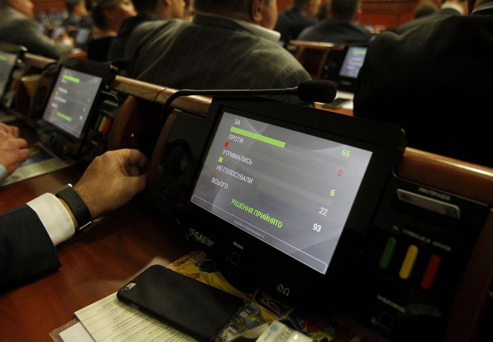 Відображення результатів голосування на робочому місці депутата Київської міської ради
