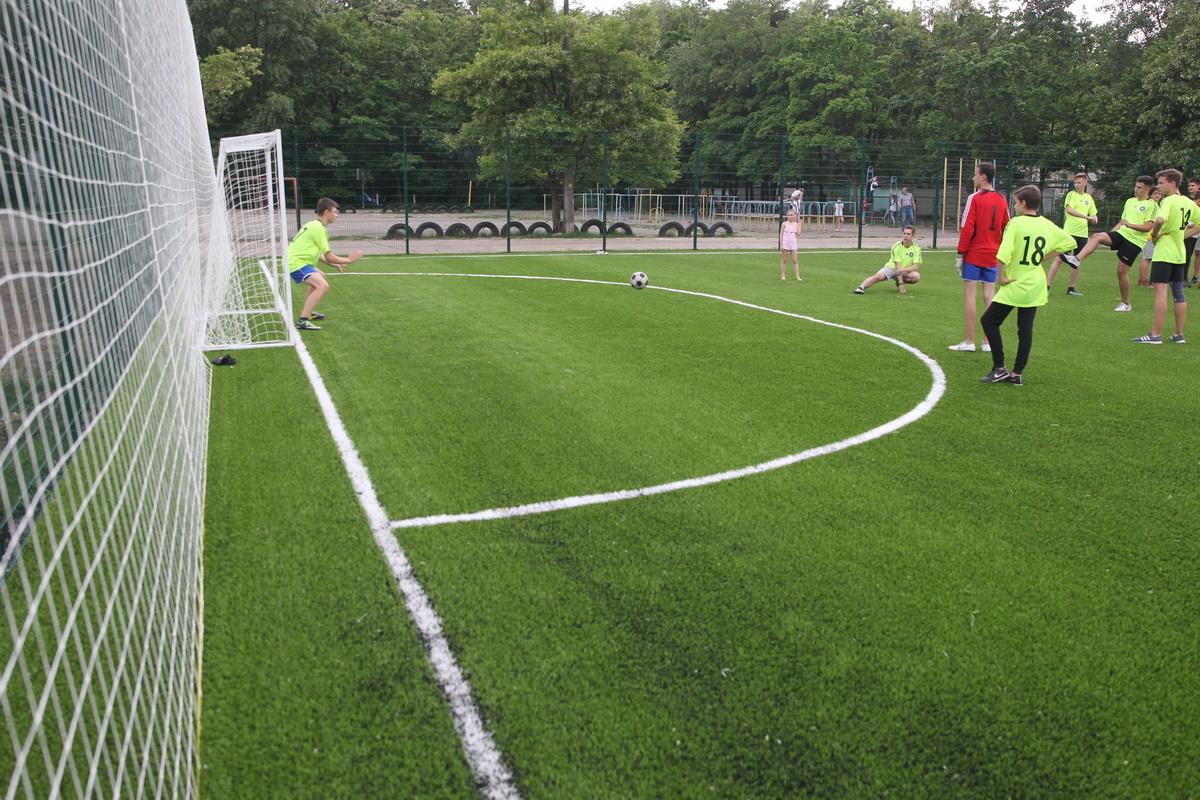 футбол, поле, діти,