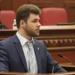 Депутат Київради Кутняк Святослав Вікторович виступає перед депутатами Київради під час пленарного засідання